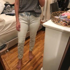 Gap white denim wash jeans